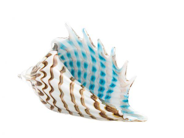 Glasschale Glas Schale Italien im Murano antik Stil Shell 34cm Muschel Glass