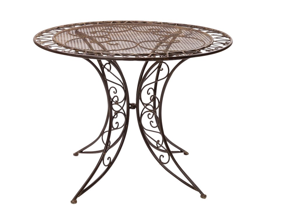Beautiful Garden Table Bistro Antique Style Iron Brown