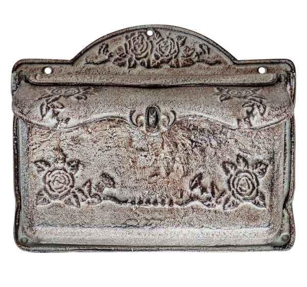Briefkasten Wandbriefkasten Eisen antik Stil Landhausstil Shabby grün iron