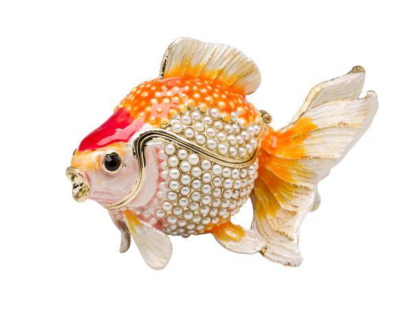 Koi Fisch Pillendose Schmuckdose Dose Pillenbox Box Dose Pille Figur Schatulle