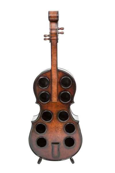 Flaschenregal Geige Viola Violine 135cm Holz Weinregal Weinständer Regal Flasche