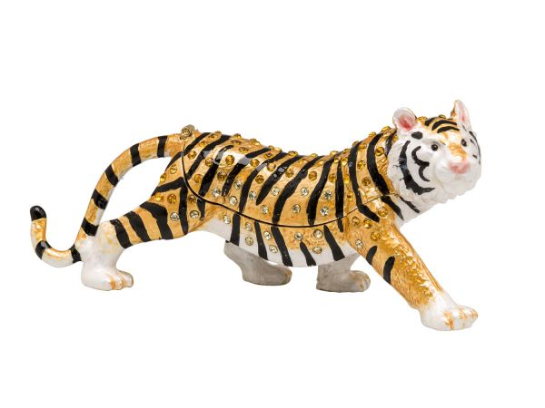 Tiger Pillendose Schmuckdose Pillenbox Box Dose Pille Figur Schatulle pillbox