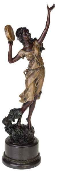Bronzeskulptur Frau Tänzerin im Antik-Stil Bronze Figur Statue 56cm