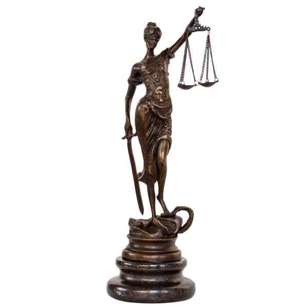 Bronzeskulptur Justitia Justizia Bronze Figur Skulptur im Antik-Stil - 24cm