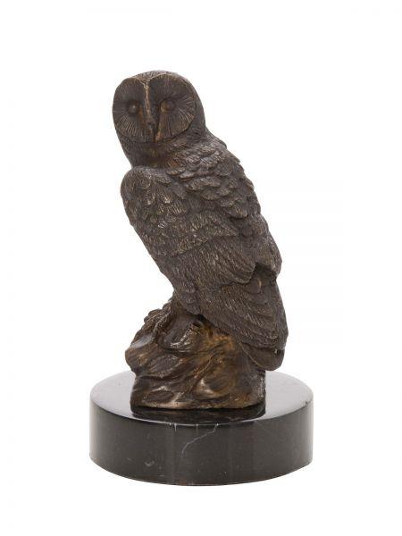 Bronzeskulptur Eule Uhu Bronze Figur Skulptur Jagd antik Stil owl sculpture