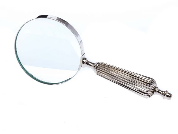 Lupe Leselupe Lesehilfe im antik Stil Optik Larp Vergrößerungsglas mit Rillen