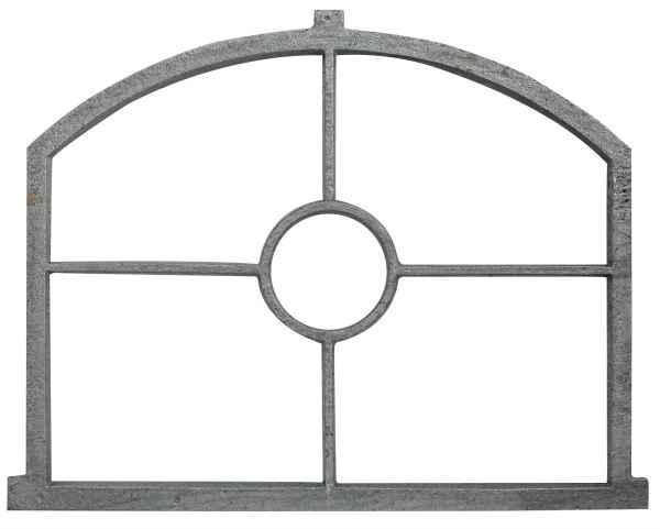Fenster grau Stallfenster Eisenfenster Scheunenfenster Eisen 66cm Antik-Stil (w)