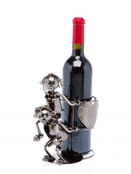 Flaschenhalter Liebespaar Herz Wein Weinhalter Weinständer Metall wine lovers