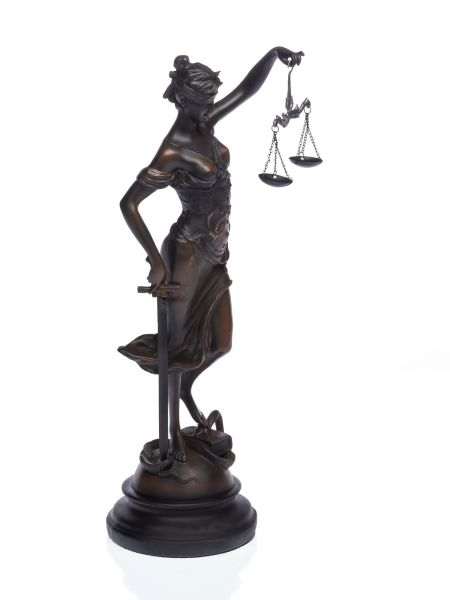 Skulptur Justitia Göttin der Gerechtigkeit Figur 37cm Justizia sculpture justice