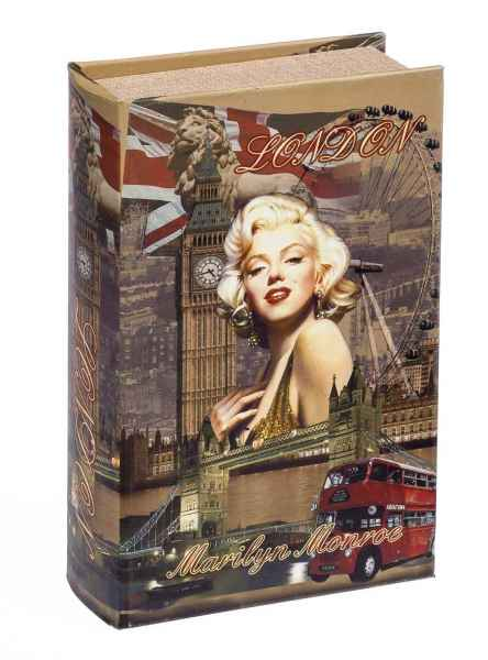 Buchattrappe Marilyn Monroe London Schmucketui Buchsafe Zahlmappe Box