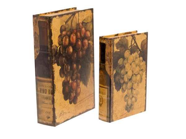2x Buchtresor Buchsafe Buchattrappe Geheimversteck Geheimsafe Weintrauben Box