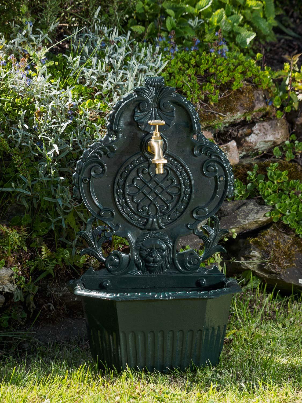 Waschbecken l we wandbrunnen garten alu becken brunnen - Garten wandbrunnen ...
