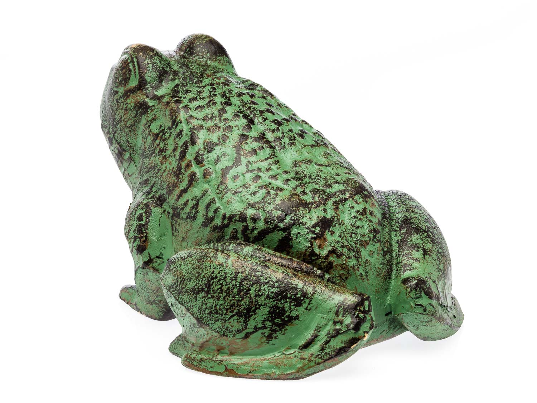 Figura de escultura de la escultura de la rana verde 28cm hierro 6kg escultura