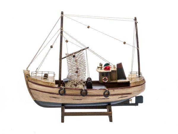 Kutter Fischerboot Fischkutter Holzschiff Schiff Boot Schiffsmodell 30cm Modell