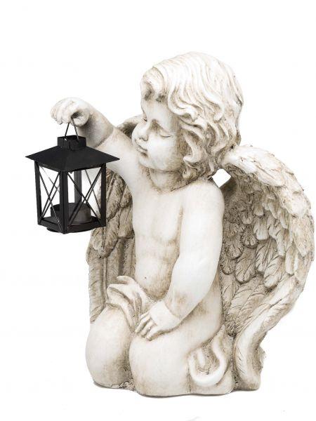 Deko Engel Windlicht Laterne für Teelicht Figur Skulptur Angel