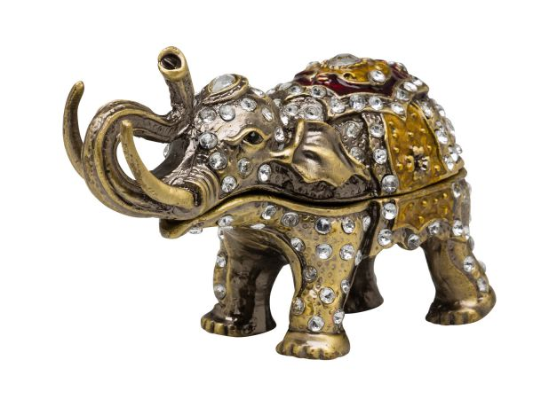 Schmuckschatulle Elefant Pillendose Schmuckdose Dose Pillenbox jewelry box