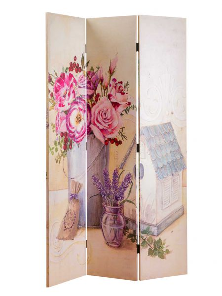 Paravent 180x115cm Spanische Wand Raumteiler Sichtschutz Haus Vase