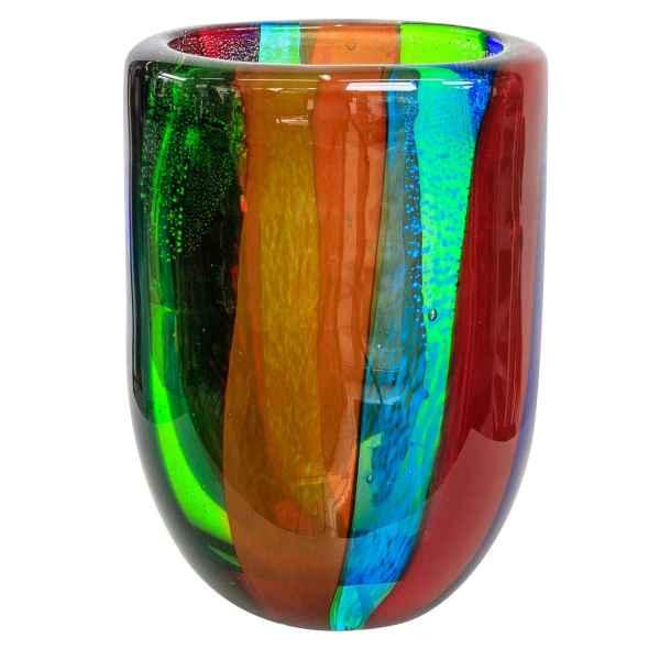 Glasvase Vase Glas im Murano Antik Stil 20cm