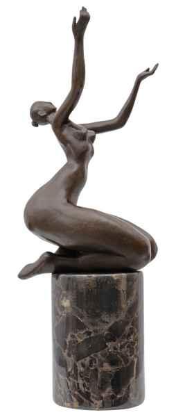 Bronzeskulptur Erotik erotische Kunst im Antik-Stil Bronze Figur Statue 32cm