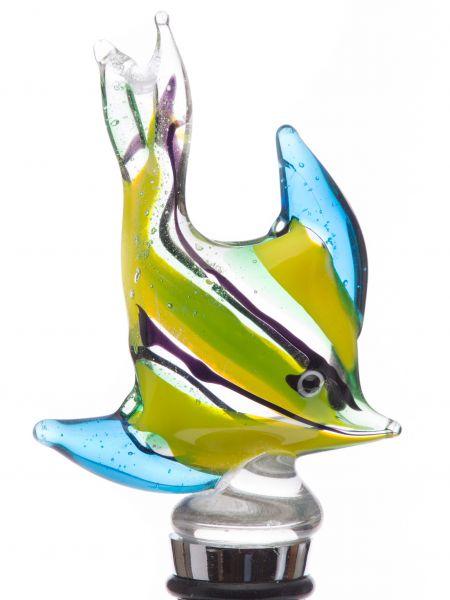Flaschenverschluss Glasverschluss Fisch Glaskorken Murano Stil bottle stopper