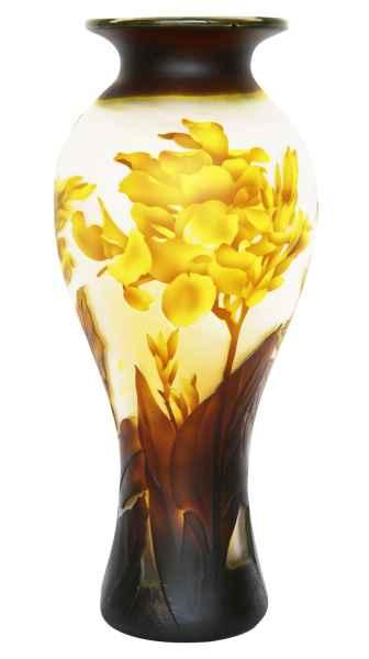 Vase Replika nach Galle Gallé Glasvase Glas Antik-Jugendstil-Stil Kopie j