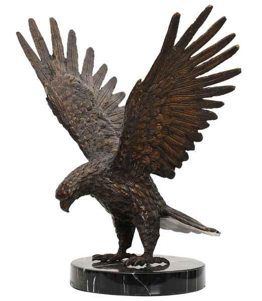 Bronze Skulptur Figur Adler eagle Bronzeskulptur 33cm Bronzefigur