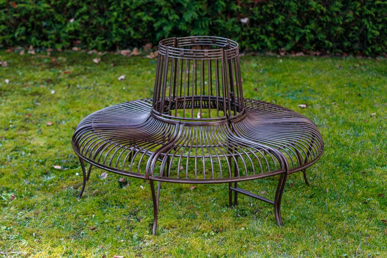gartenbank set bank antik stil garten metall eisen braun. Black Bedroom Furniture Sets. Home Design Ideas