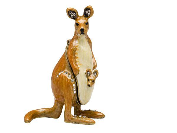 Schmuckschatulle Känguru Pillendose Schmuckdose Dose Pillenbox jewelry box