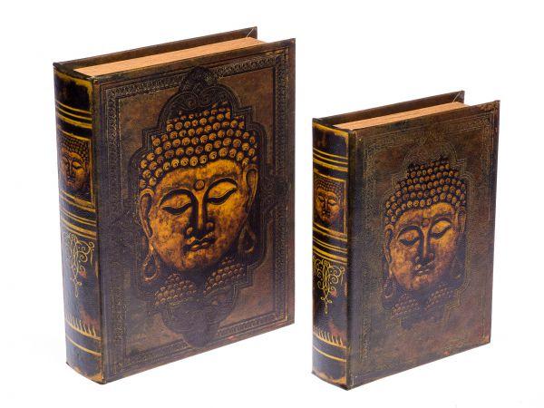 2x Schatulle Buddha Buchattrappe Buch Box Etui Aufbewahrung Schmucketui book box