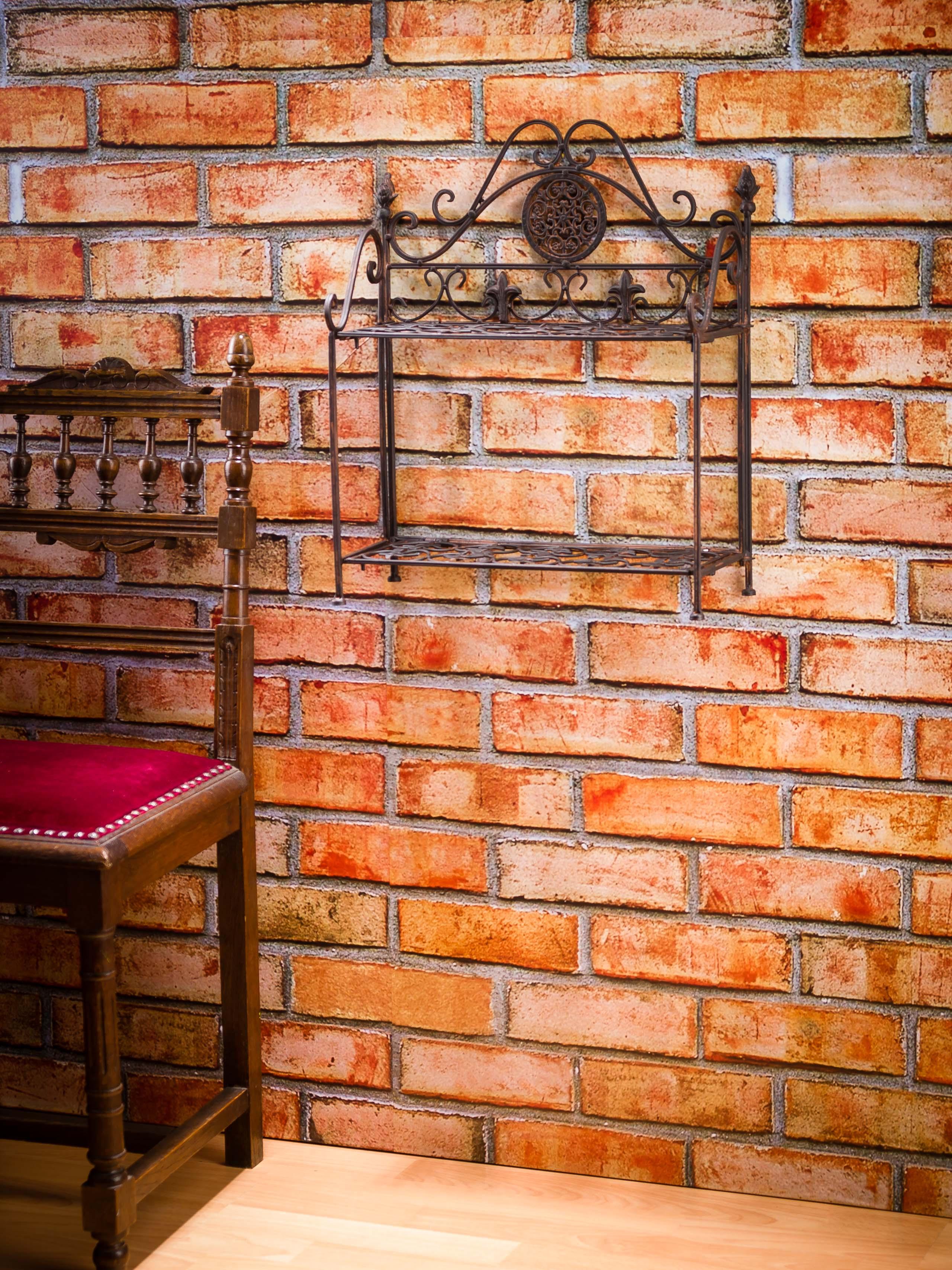Nostalgie regal wandregal wandgarderobe garderobe eisen antik stil lilie aubaho - Nostalgie wandregal ...