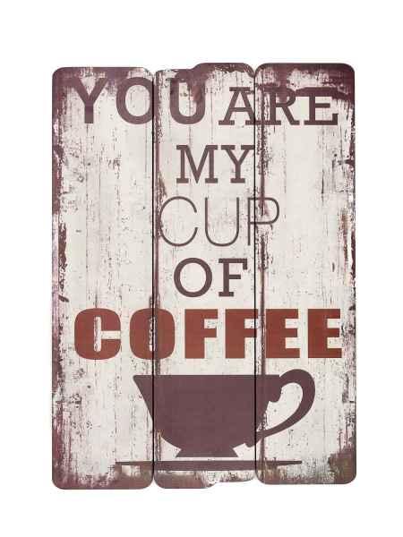 Holzbild you are my cup of coffee Holz Bild Wandbild 70cm Antik-Stil