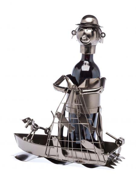 Flaschenhalter Fischer Weinständer Flasche Wein Ständer Fischernetz Boot Fisch