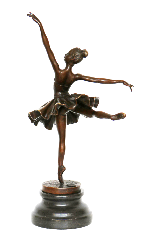 Bronzeskulptur Tänzerin Ballerina nach Degas Ballet Bronze Figur Replika f