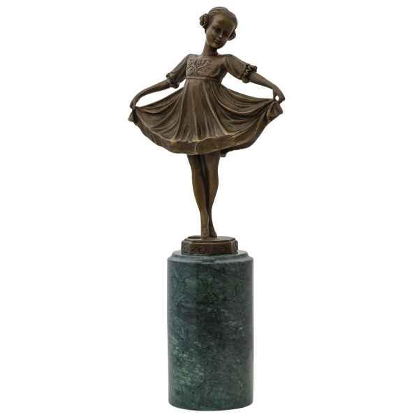Bronzeskulptur nach Ferdinand Preiss (1882-1943) Bronzefigur Ballerina 32cm