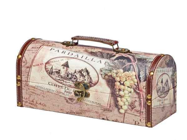 Beautycase Box Kiste antik Stil Holz Kosmetikbox Koffer Schatzkiste Truhe