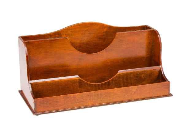 Stiftehalter Briefhalter Antik-Stil Briefständer Schreibtischorganizer Holz