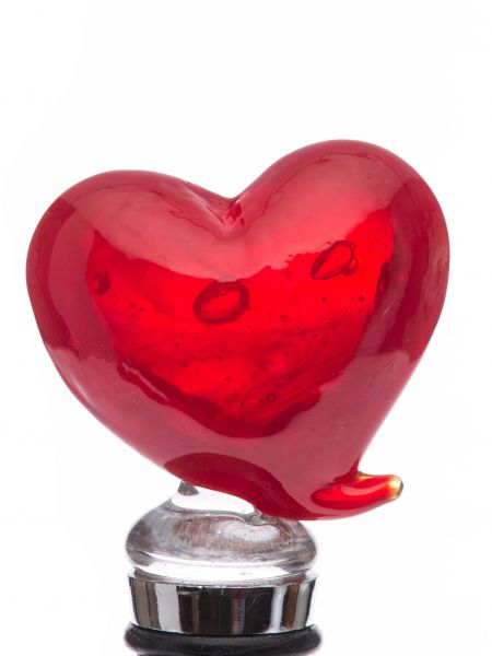 Flaschenverschluss Glasverschluss Glaskorken Herz Murano Stil bottle stopper