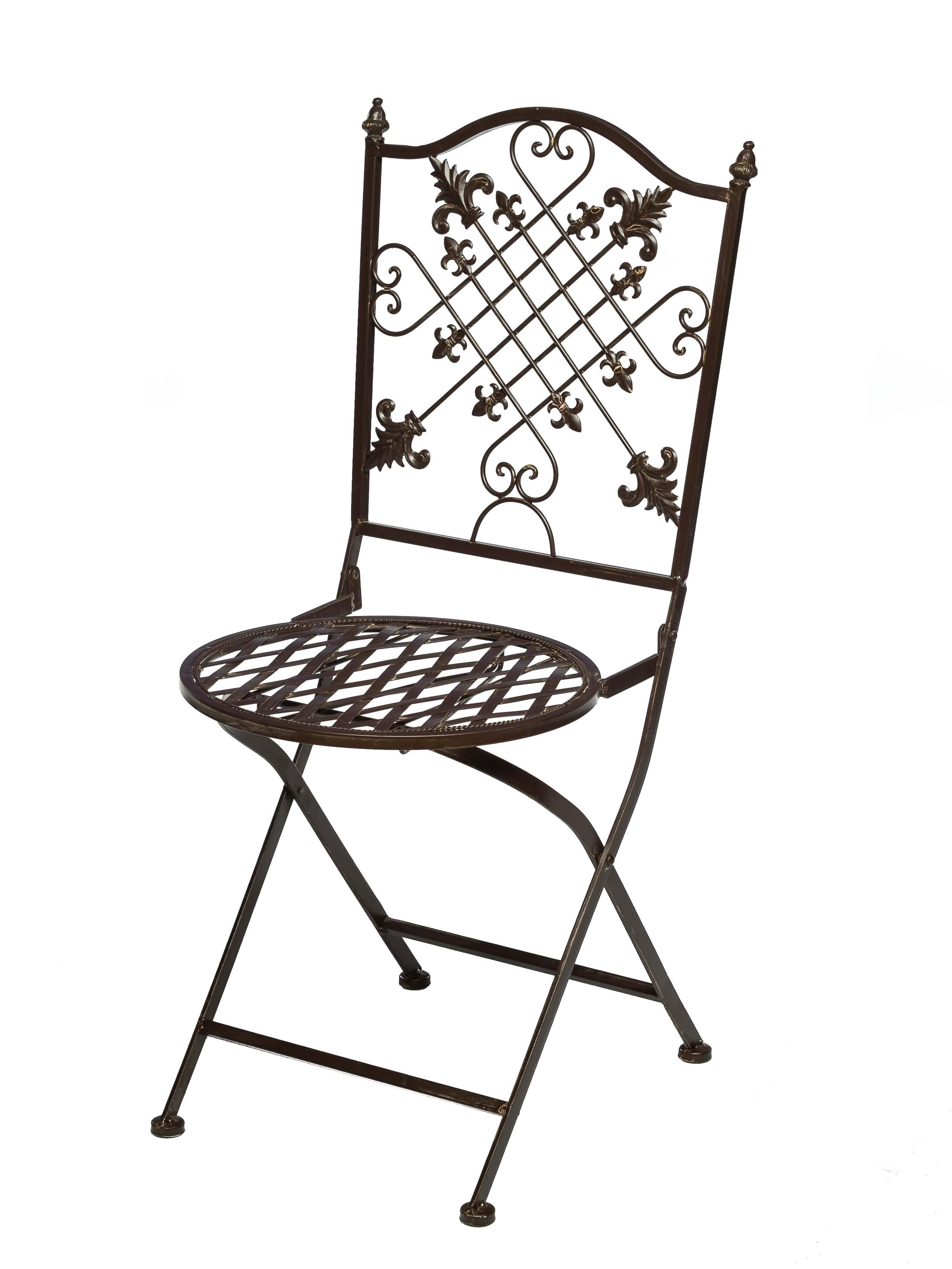 gartentisch und 2 st hle set metall nostalgie antik stil gartenm bel braun aubaho. Black Bedroom Furniture Sets. Home Design Ideas