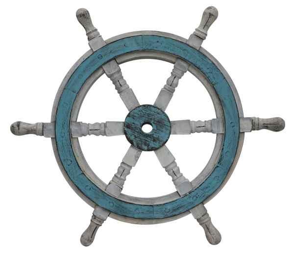 Schiffssteuerrad Schiffsrad Steuerrad Schiff Schiffe Boot 46cm Holz Antik-Stil