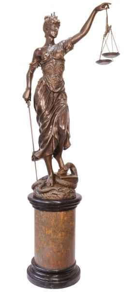 Bronzeskulptur Justitia Justizia Bronze Figur Skulptur 190cm sculpture justice