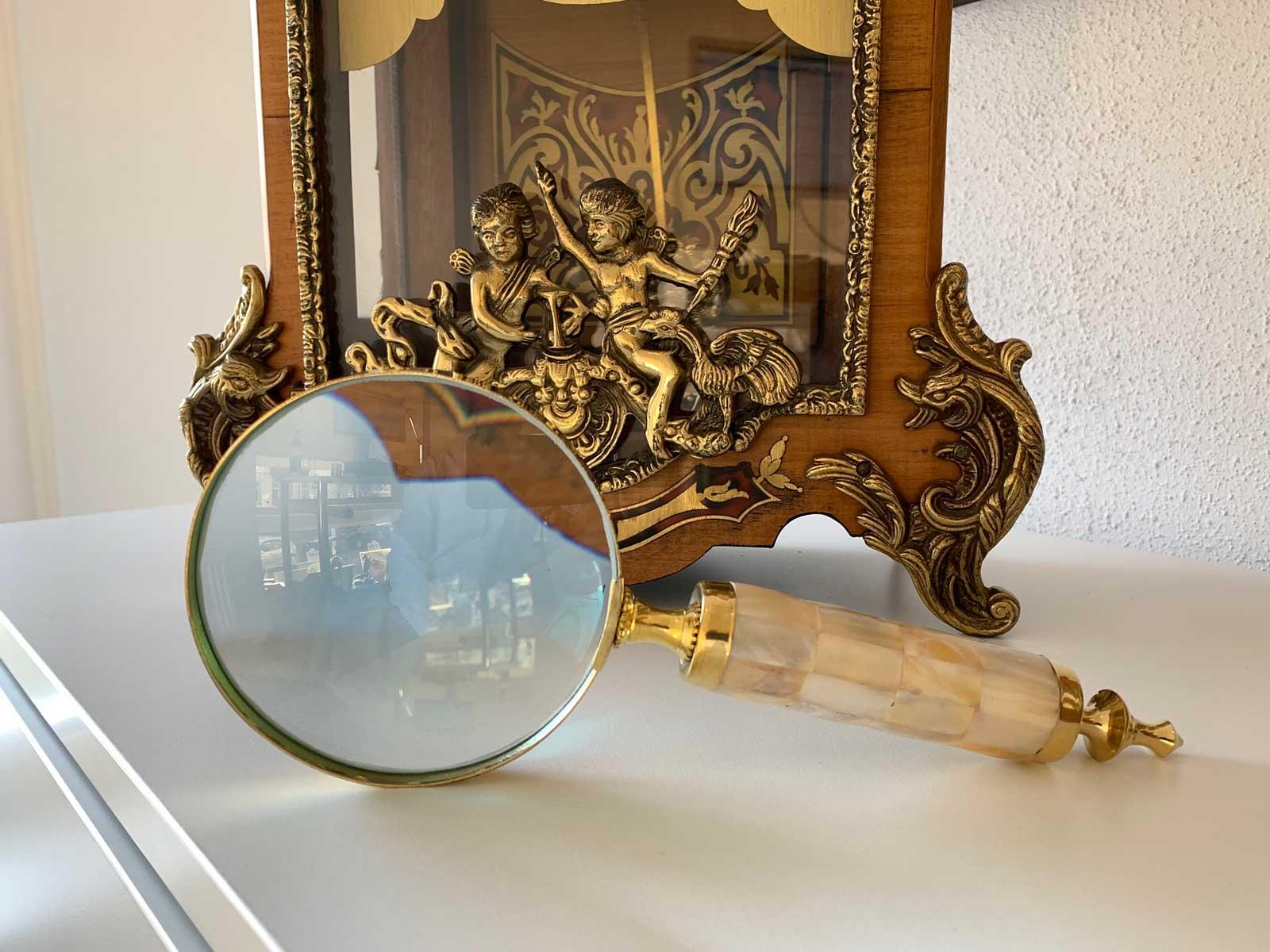Lupe Leselupe Lesehilfe im Antik-Stil Handlupe Sehhilfe Vergrößerungsglas W24