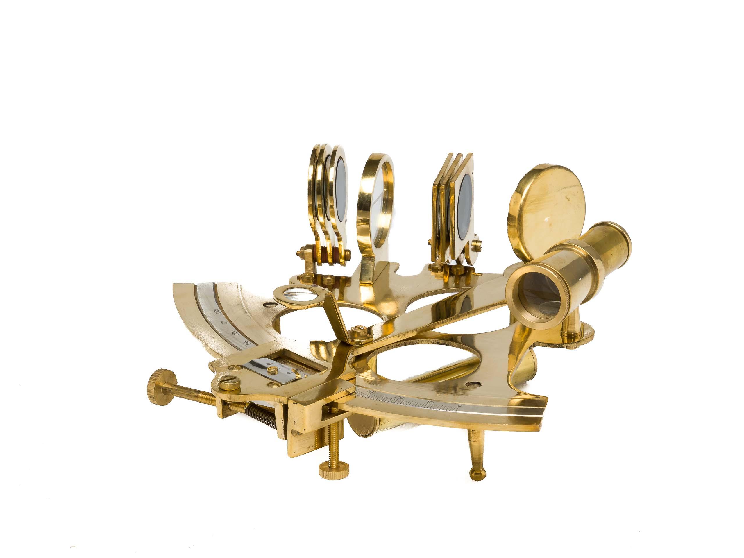 Laiton sextant avec boîte en bois maritim nautique navigation maritime style