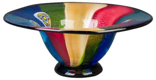 Glasschale Schale Glas im Murano Antik Stil - 42cm