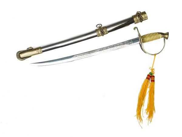 Schwert Säbel mit Scheide 58,5cm Dekoschwert Offiziersschwert Replika Marine
