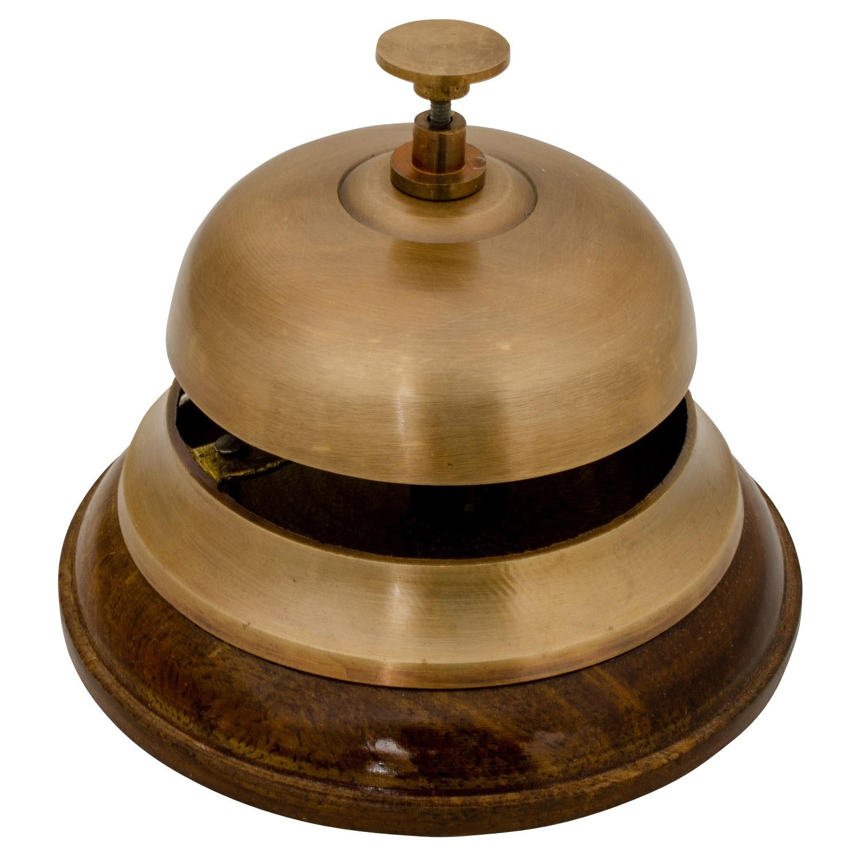 Antik Messing Hotel Rezeption Glocke Rezeption Service Counter Bell
