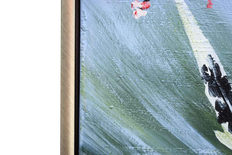 Oil painting fish koi pond aquarium koi carp painting for Aquarium teich