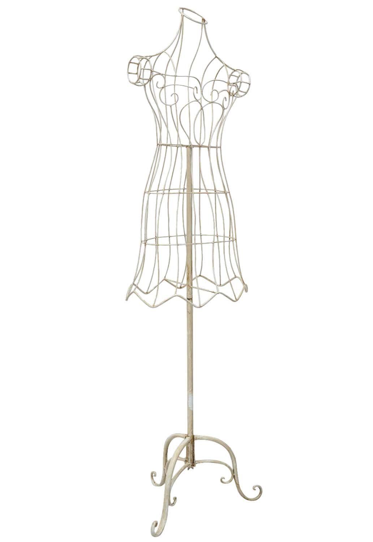 schneiderpuppe garderobe metall schaufensterpuppe creme weiss antik stil ebay. Black Bedroom Furniture Sets. Home Design Ideas