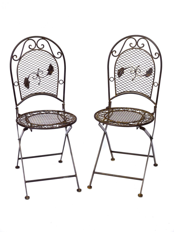Set tavolo da giardino 4 sedie in ferro battuto mobili da giardino in ferro ebay - Mobili da giardino in ferro ...