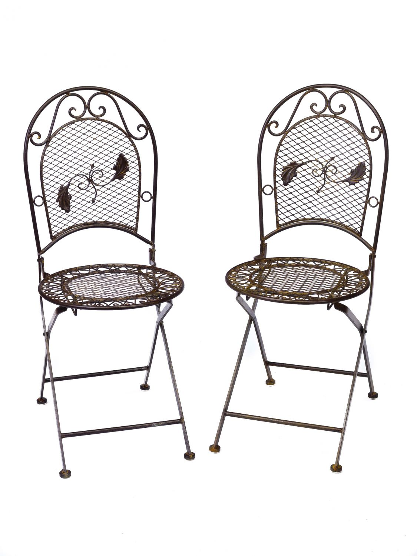 Set tavolo da giardino 4 sedie in ferro battuto mobili da - Tavolo in ferro battuto da giardino ...