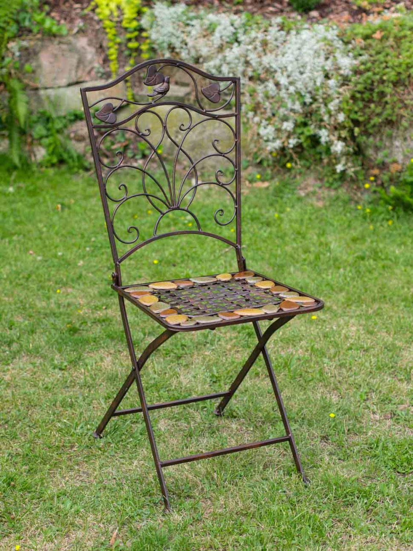 gartentisch und 2 st hle eisen schmiedeeisen antik stil gartenm bel braun stein ebay. Black Bedroom Furniture Sets. Home Design Ideas